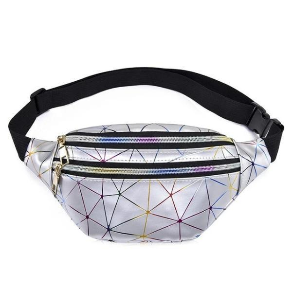 Cheap silver holographic fanny pack