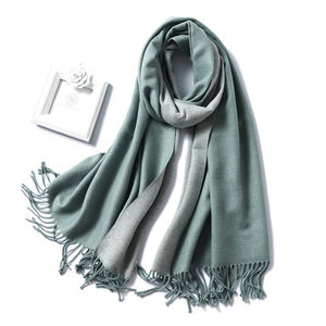 foulard scarf smoke grey