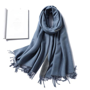 Womens Cashmere Scarves smoke grey