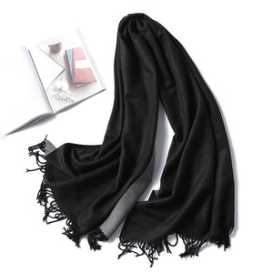 women Cashmere Scarf black
