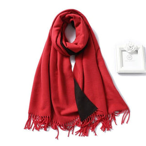 winter Cashmere Scarf Red wine