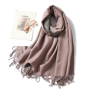 winter Cashmere Scarf dark pink