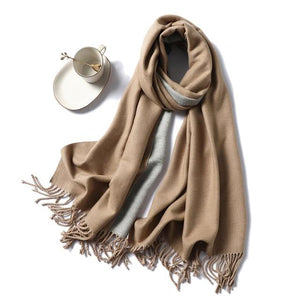 Womens Cashmere Scarves ligh coffee