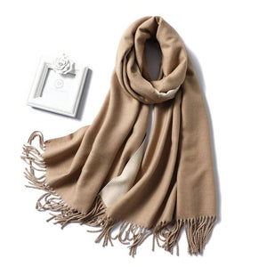 Womens Cashmere Scarves light brown
