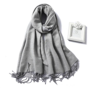 Womens Cashmere Scarves sky blue
