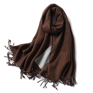 winter Cashmere Scarf dark coffee