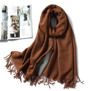 women Cashmere Scarf brown