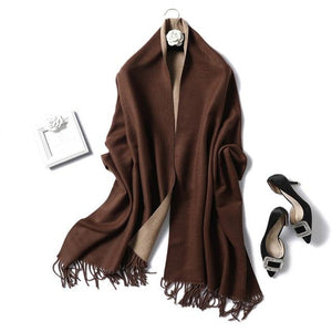 Womens Cashmere Scarves coffe