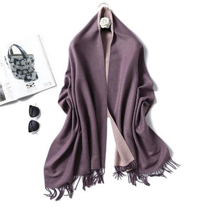 winter Cashmere Scarf purple
