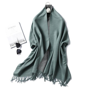 winter Cashmere Scarf smoke grey