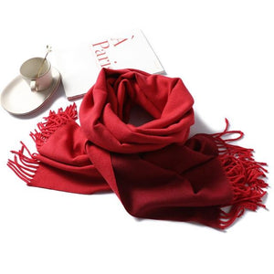 foulard scarf  red wine