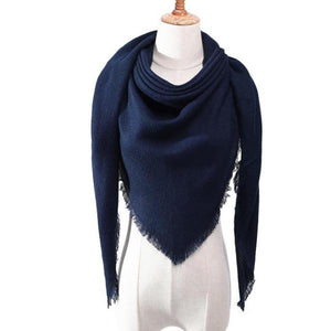 classic scarf for women blue