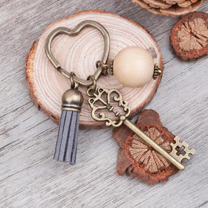 Antique hearth keychain bronze