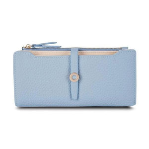 Blue slim wallets for women