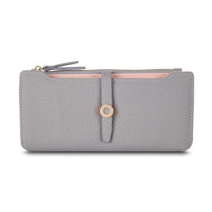 Light gray slim wallets for women