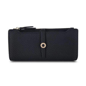 Black slim wallets for women