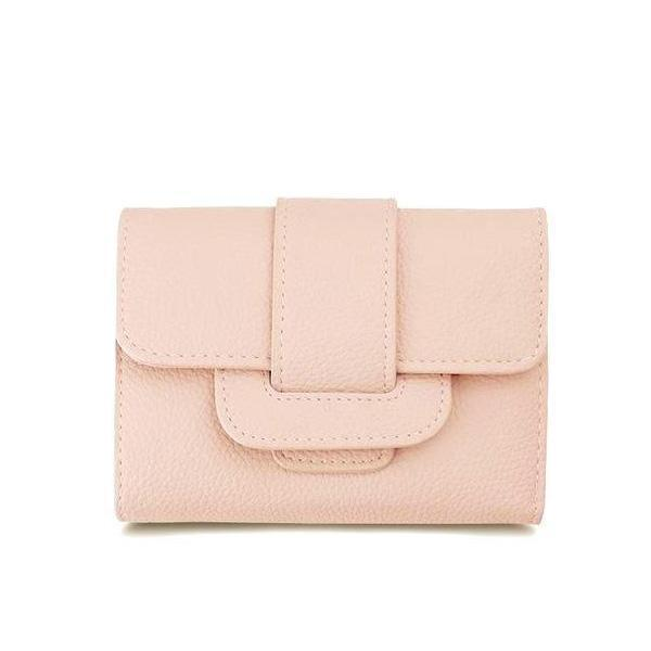 Cute small pink vegan leather wallet