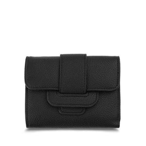 Black small trifold wallet for women