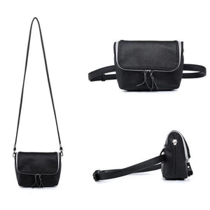 Convertible fanny pack purse with shoulder strap