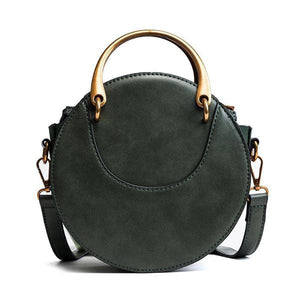 green round handbag with handles