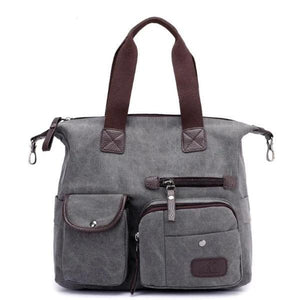 grey crossbody canvas messenger bag women