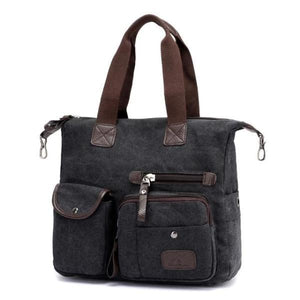 black crossbody canvas messenger bag women