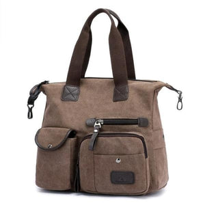 Brown crossbody canvas messenger bag women