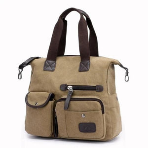 Khaki crossbody canvas messenger bag women