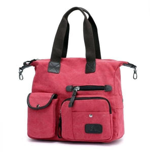 pink canvas crossbody messenger bag women