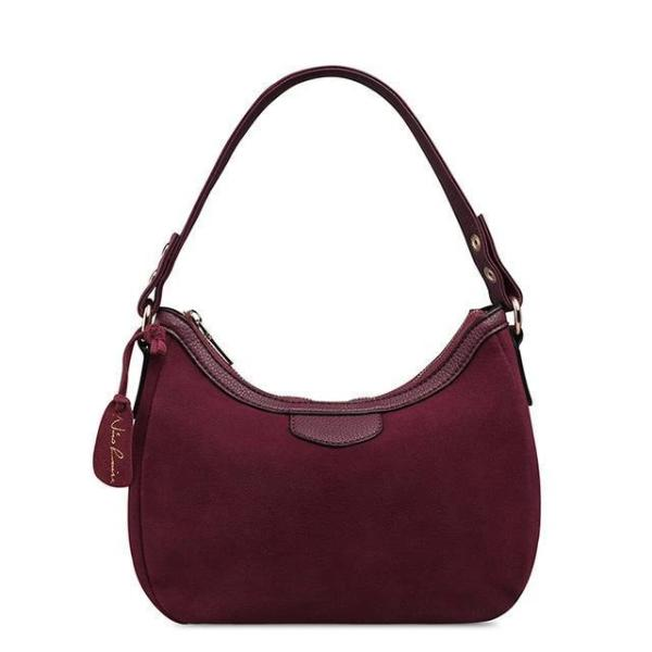 dark purple Suede hobo bag