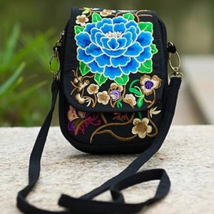 Kaira, Attractive Messenger Bag, blue peony