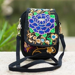 Kaira, Attractive Messenger Bag, purple peony