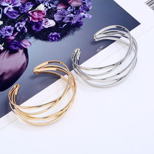 Two Twisted alloy Women Bracelet