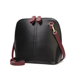Black crossbody bag vintage leather