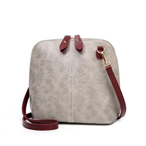 Gray crossbody bag vintage leather