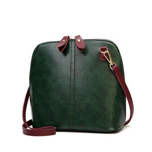 Green crossbody bag vintage leather