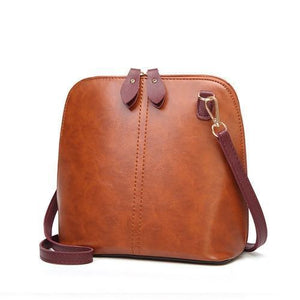Brown crossbody bag vintage leather