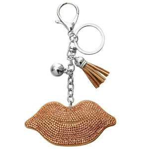 Brown lips Keychain
