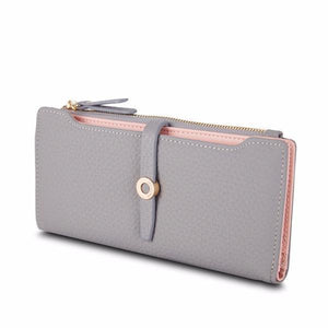 Cute slim gray wallet for women