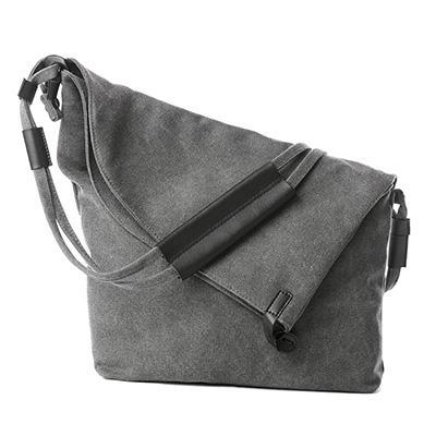 beige canvas crossbody shoulder bag