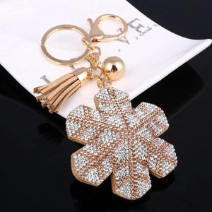 Brown snowflake Keychain