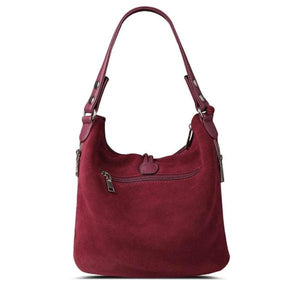 suede crossbody hobo bag back zipper pocket