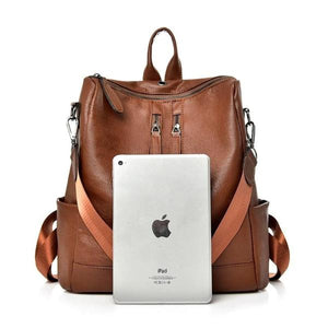 Emancia, Convertible Vintage Backpack with ipad