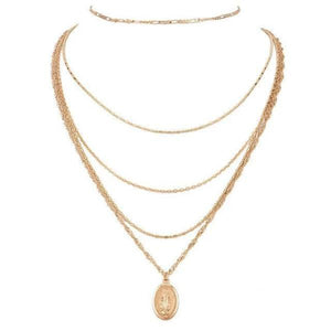 Maria Multi layered gold necklace