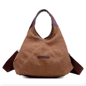 Brown small canvas crossbody purse women