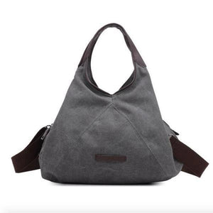 Grey crossbody canvas bag