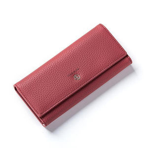 Red best leather wallets for women