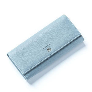 Blue best leather wallets for women