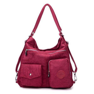 Grape purple convertible nylon bag
