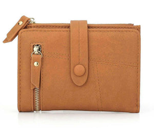 Brown mini wallet womens
